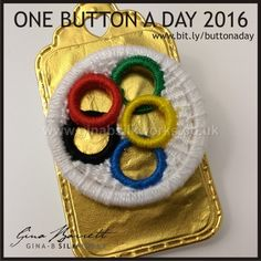Day 218: Going for Gold # onebuttonaday by Gina Barrett