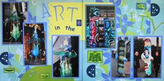 Scrapbook Page - Olympic Art Display- 2 page travel layout from Everyday Life Album 3
