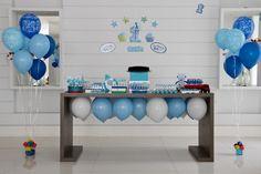 Festa // Decoração // Mesa do Bolo // Simples // Cor: Azul