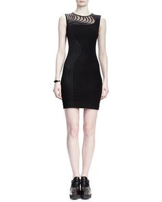 Sleeveless Ribbon-Waved Sheath Dress by Stella McCartney at Neiman Marcus.