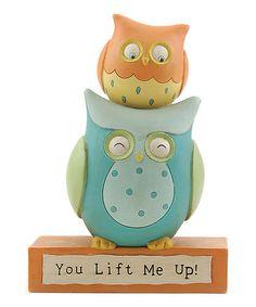 Look at this #zulilyfind! 'You Lift Me Up' Owls Figurine #zulilyfinds