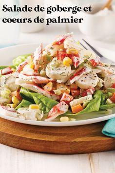 La goberge et les coeurs de palmier s'unissent pour former une salade crémeuse vraiment délicieuse! Un souper de semaine simple, mais ô combien savoureux! Palmiers, Fish And Seafood, Vinaigrette, Cobb Salad, Salads, Dressing, Recipes, Tasty Kitchen, Top Recipes