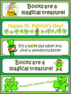 Classroom Freebies: Read with a Leprechaun... Bookmarks!