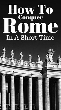 How to conquer Rome in a short time. With 3 days being the average a traveler has to spend in Rome, I want to show you the top sites and can't miss things. If you have more days, great, consider diving deeper into the smaller neighborhoods or taking a day trip outside of the city. Click to read more at http://www.divergenttravelers.com/3-days-in-rome-things-to-do/