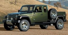 Jeep Gladiator (Concept). They need to go ahead and build this, because it looks awesome and my dad would love it.