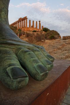 'My name is Ozymandias King of Kings: Look upon my works ye mighty and despair!'... ~Agrigento, Icaro, Sicily, Italy