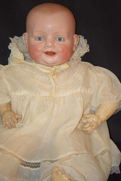 Antique Doll Georgene Averill Bonnie Babe Bisque Baby Wonderful