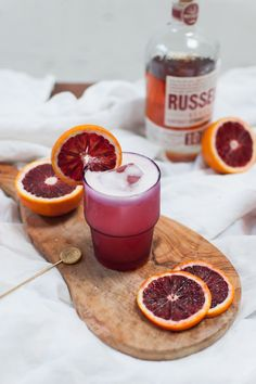 Blood Orange Boston Sour | On The Menu: Colourful Cocktails