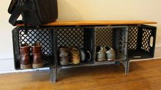 Make a Credenza Out of Milk Crates