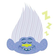 troll hair - outline