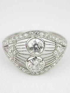 Edwardian Old European Cut Diamond Antique Ring