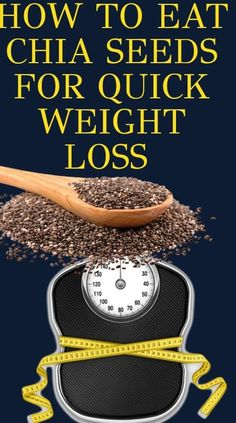 Weight Loss Meals, Quick Weight Loss Tips, Weight Loss Drinks, Weight Loss For Women, Healthy Weight Loss, How To Lose Weight Fast, Losing Weight, Chia Seed Recipes For Weight Loss, Loose Weight