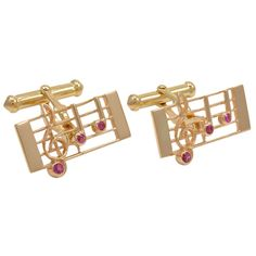 Musical Notes Cuff Links | From a unique collection of vintage cufflinks at http://www.1stdibs.com/jewelry/cufflinks/cufflinks/