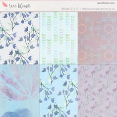 Free Printable Spring Paper Pack from Rene Blooms