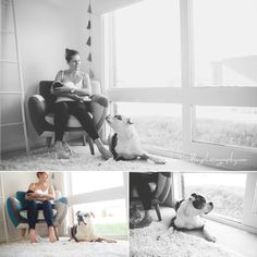 Dog and baby session Bec Brindley Photography