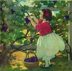 Jessie Willcox Smith by challengeandfun, via Flickr collecting blackberries in our next door neighbors bush.  Memories...