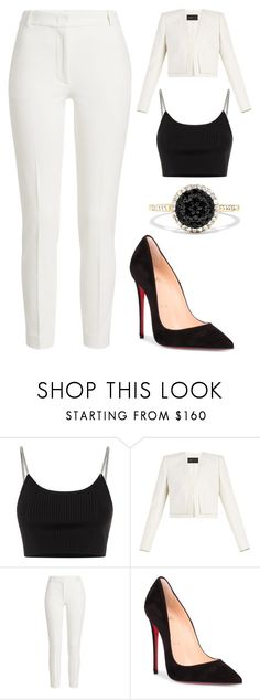 """Untitled #128"" by kimmie-aiken on Polyvore featuring Alexander Wang, BCBGMAXAZRIA, Joseph, Christian Louboutin and Effy Jewelry"