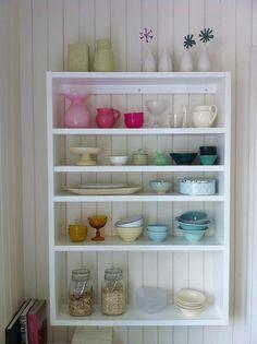 Crockery, glass and pastel loveliness.