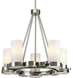 Progress Lighting P4647-09 Bingo Five-Light Contemporary Up-Lighting Chandelier transitional-chandeliers