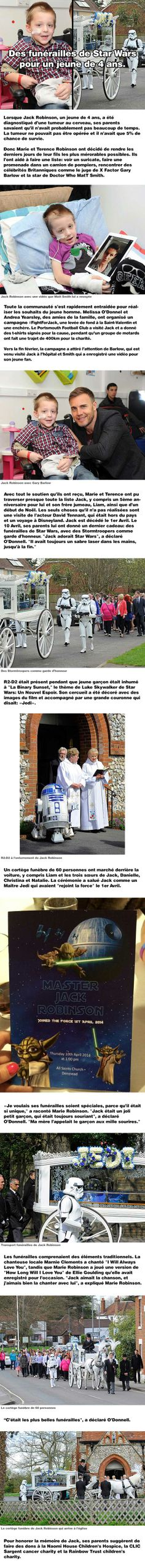 Des funérailles de Star Wars pour un jeune de 4 ans