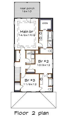 Craftsman Style House Plan - 2 Beds 2.5 Baths 2173 Sq/Ft Plan #79-317 - Houseplans.com Modern Craftsman, Craftsman Style House Plans, 2x4 Wood, Building Department, Set Cover, Roof Plan, Building Plans, New Homes, Floor Plans
