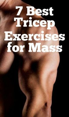 7 Best Tricep Exercises for Mass Fitness Exercise Biceps And Triceps, Biceps Workout, Toning Workouts, Fun Workouts, Big Biceps, Weight Training, Weight Lifting, Weight Loss, Lose Weight