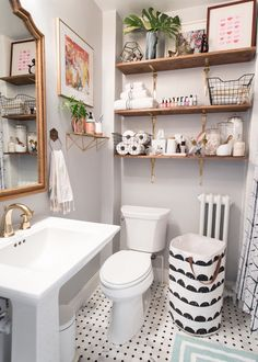 1920s-Inspired Classic Small Bathroom                                                                                                                                                                                 More
