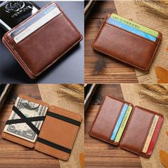 Men's #leather magic money clip slim wallet id #credit card #holder case purse ne, View more on the LINK: http://www.zeppy.io/product/gb/2/311514206509/