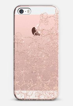 Modern rose gold floral lace illustration by Girly Trend iPhone SE case by Girly Trend | Casetify