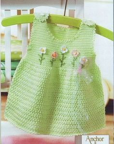 baby dress in crochet – Knitting and crocheting Crochet Bebe, Baby Girl Crochet, Crochet Baby Clothes, Crochet For Kids, Crochet Dresses, Vogue Knitting, Baby Knitting, Baby Patterns, Crochet Patterns