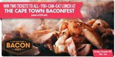 We're giving away two lunchtime tickets to Baconfest South Africa (worth R250 each).   Enter now: https://apps.agorapulse.com/app/go/56377/60069  https://www.facebook.com/CapeTownMagazine/photos/a.358102406266.154796.335158111266/10153303800081267/?type=3&theater