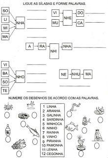 Cantinho da Malu: atividades de alfabetização - NH-