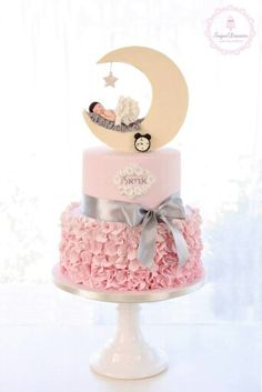 ≫ Wedding Cake toppers with Child Conception, 204 Best Christening Cake Girl Images In 2018 - Beautiful & Creative Wedding Cakes Ideas Gateau Baby Shower, Baby Shower Cakes, Baby Shower Cake Designs, Cute Cakes, Pretty Cakes, Stage Patisserie, Christening Cake Girls, Bolo Fack, Bolo Floral