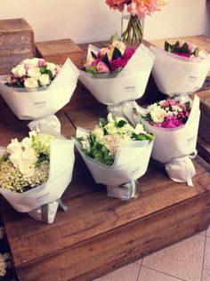 An array of cute posies with #summerFlower #hydrangea #florist #mydarlingflower