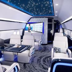 Design on All new boeing private jet interior - What do you think Via: lux. Jets Privés De Luxe, Luxury Jets, Luxury Boat, Luxury Private Jets, Private Plane, Interior Design Colleges, Best Interior Design, Home Design, Boeing Business Jet