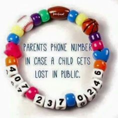 I love this idea. In case child get lost or separated from parents