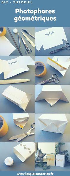 { Printable } Photophores géométriques en papier / Geometrical paper candle holders