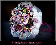 My Star Sapphire Wedding bouquet