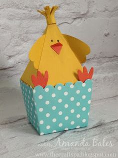 The Craft Spa - Stampin' Up! UK independent demonstrator : Easter Pyramid Pal Easter Chick... extended...