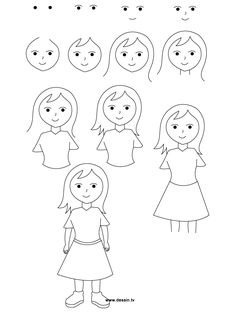 Step By Step How To Draw A Person Art Resources Ideas