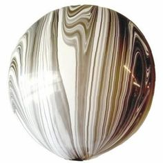 Make a statement and an impact with this gorgeous and super chic JUMBO marble balloon in black and white!  We are in LOVE with these - seriously the classiest balloons around!  These are not a printed design - each balloon has a unique and natural-looking marbled pattern!  Perfect for everything from kids parties to weddings and bridal showers.  Party Inspo | Bridal | Wedding | Party Shop | Kids Party Ideas