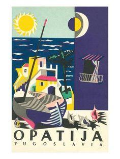 Travel Poster for Opatija, Yugoslavia Prints at AllPosters.com