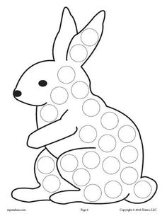 FREE Bunny Rabbit Do-A-Dot Printable! Spring dot coloring pages like this are perfect for toddlers and preschoolers to practice fine motor skills and more! Get all 12 spring Do A Dot Printables for FREE here –> www.mpmschoolsupp… Source by Bird Crafts, Bunny Crafts, Easter Crafts For Kids, Toddler Crafts, Preschool Activities, Spring Coloring Pages, Easter Colouring, Coloring Books, Free Coloring