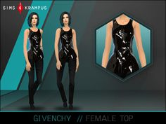 This is a stand alone blouse/top for women inspired by a piece by Givenchy. The top looks gorgeous with the black color and shiny appearance. This can be dressed up or down with a nice skirt or...