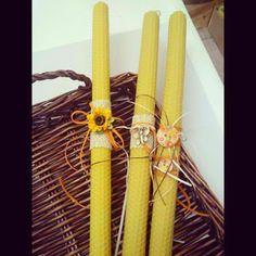 Nice things!: Πασχαλίνες λαμπάδες & κεριά!