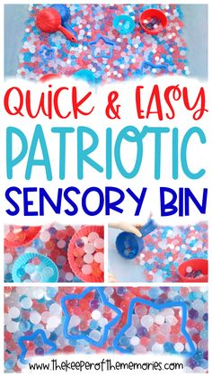 If you're looking for a wonderful sensory experience for your little kids to celebrate Independence Day while practicing fine motor and measuring skills, then you're definitely going to want to check out this Quick At Home Crafts For Kids, Diy Crafts For Kids Easy, Fun Diy Crafts, Paper Crafts For Kids, Toddler Crafts, Diy Craft Projects, Craft Tutorials, Sensory Activities Toddlers, Kids Learning Activities