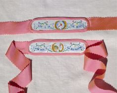 18th Century Embroidered Garters by ~AlAlNe on deviantART