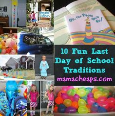 10 Fun Last Day of School Traditions - big or small, traditions are fun!  Start a 1 or 2 of these traditions with your kids to celebrate the end of another school year!