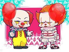 Horror Art, Horror Movies, Two Pennies, Adashino Benio, Maya Mia, Pennywise The Dancing Clown, Send In The Clowns, Kawaii, Fan Art