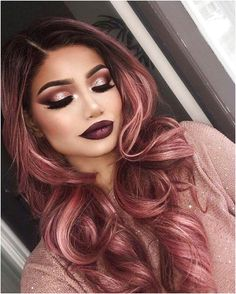 Rose Gold Hair Hair Color The most beautiful hair ideas, the most trend hairstyles on this page. Cabelo Rose Gold, Rose Gold Hair Dye, Magenta Hair, Pastel Hair, Rose Hold Hair, Burgundy Hair, Gold Hair Colors, Hair Colors For Fall, Nail Colors
